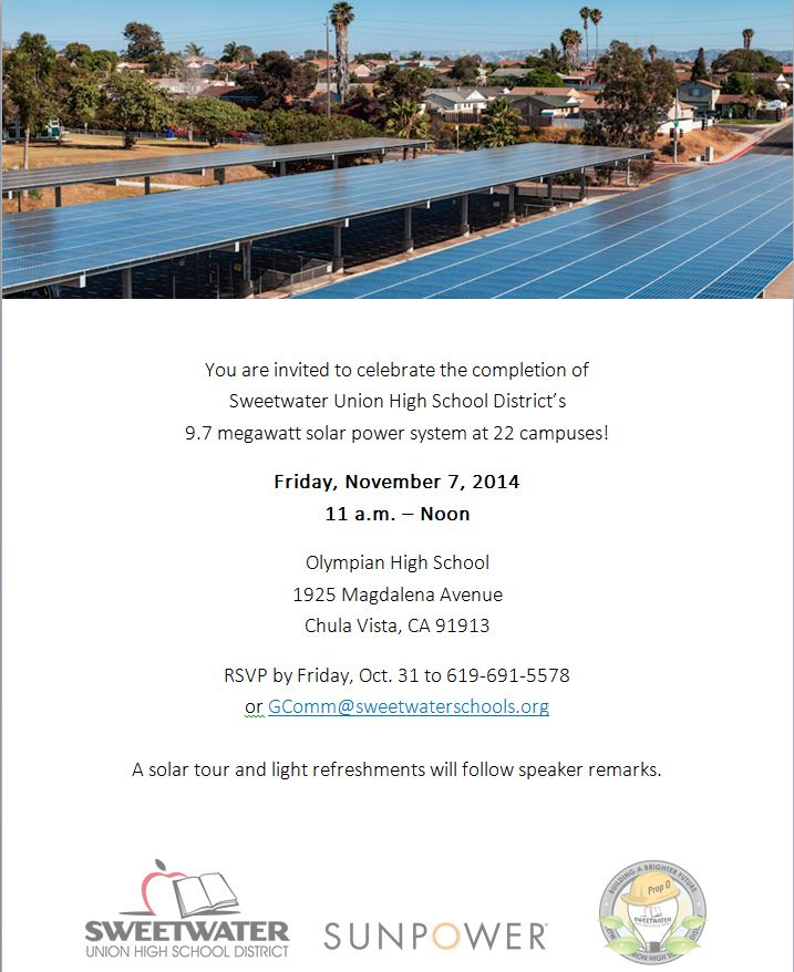 Building Prop O | Solar Dedication at Olympian HS